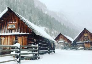 Lungauer Almhütten im Winter